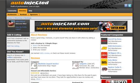 AutoInjected.com Automotive Business Reviews