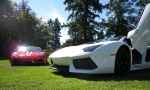 The new Aventador and the F430 Scuderia