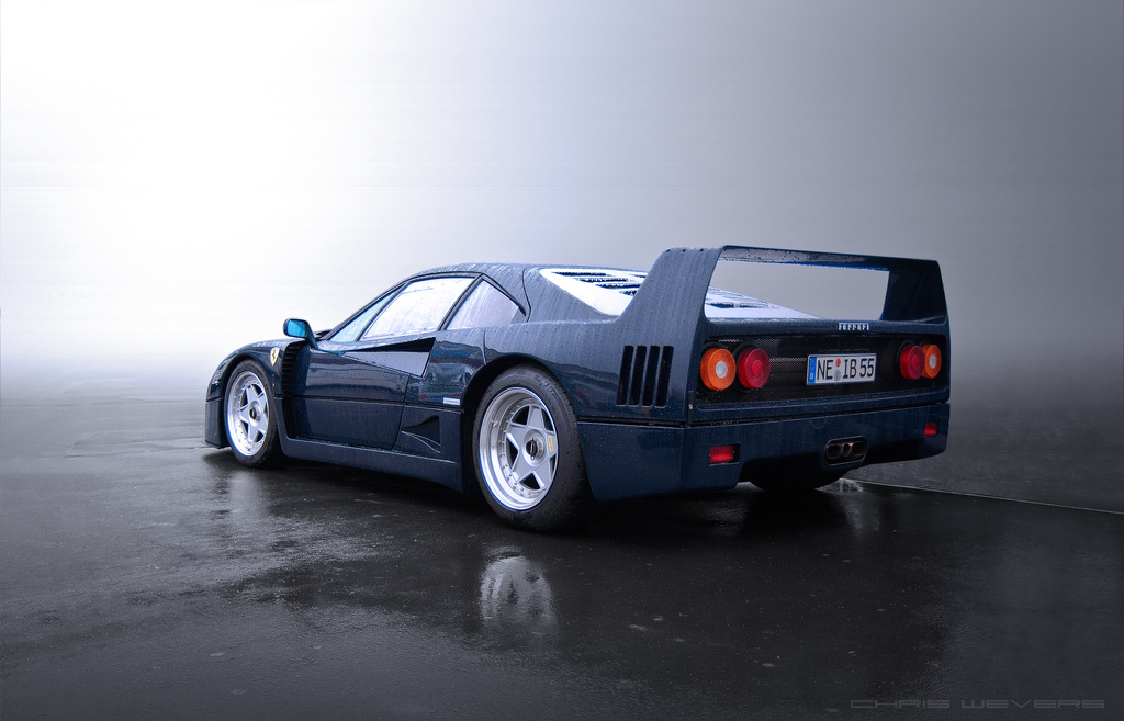 Pic Of The Day Ferrari F40 Pozzi Blue Autoinjected Com
