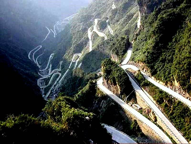 tian men shan road hunan province china - the World's Greatest Driving Roads.