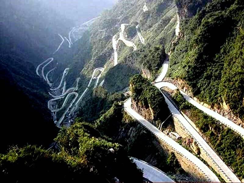 tian men shan road hunan province china - the World's Greatest Driving Roads.